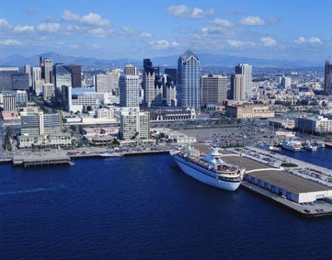 San Diego, California aerial view