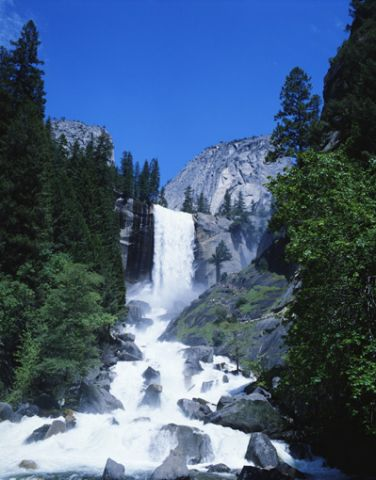 Yosemite National Park waterfall, California