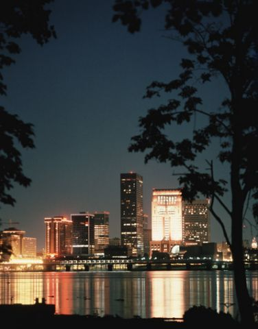 Louisville Kentucky skyline