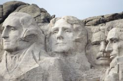 Mount Rushmore close-up