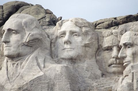 Mount Rushmore - South Dakota - George Washington, Thomas Jefferson, Abraham Lincoln, Teddy Roosevelt