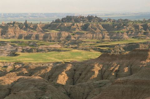 Badlands region of South Dakota