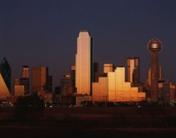 Dallas skyline at dusk