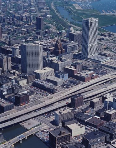 Milwaukee, Wisconsin aerial view