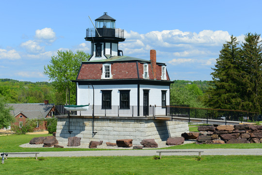 Colchester Reef Light, Shelburne, Vermont (formerly at Colchester Point on Lake Champlain)