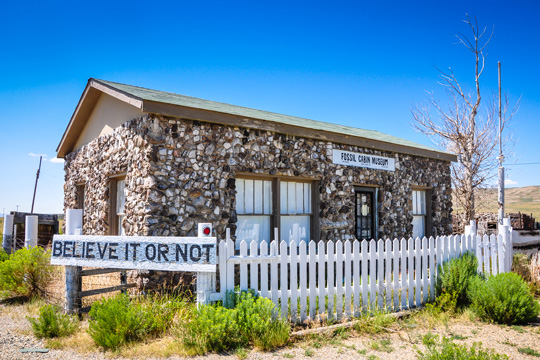 Fossil Cabin Museum in Medicine Bow, Wyoming