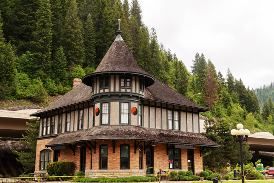 Historic Railroad Depot in Wallace, Idaho
