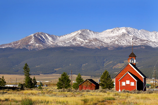 Historic School House in the Rocky Mountains of Colorado