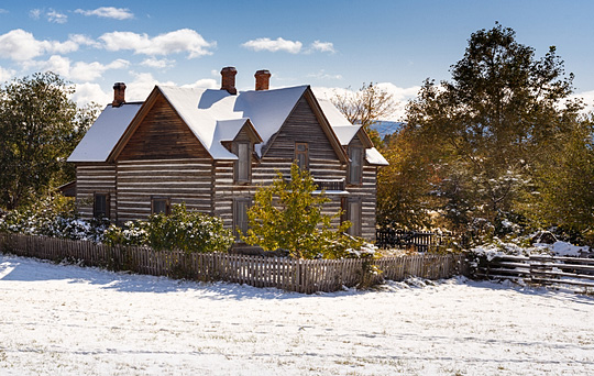 Living History Farm at Museum of the Rockies in Bozeman, Montana
