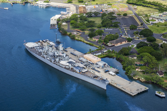 Missouri Battleship in Pearl Harbor, Honolulu, Hawaii