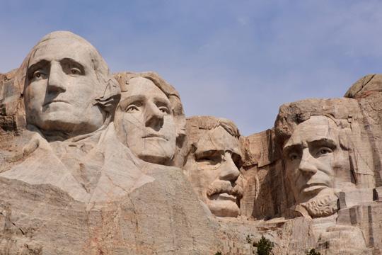 Mount Rushmore National Memorial in Keystone, South Dakota