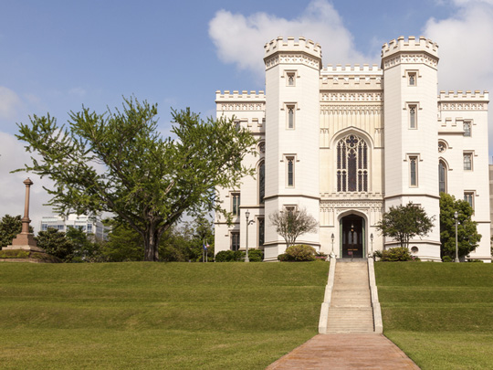 Old State Capitol Building in Baton Rouge, Louisiana