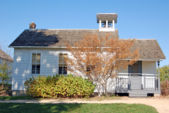Pioneer Schoolhouse at Gibbs Museum in Saint Paul, Minnesota