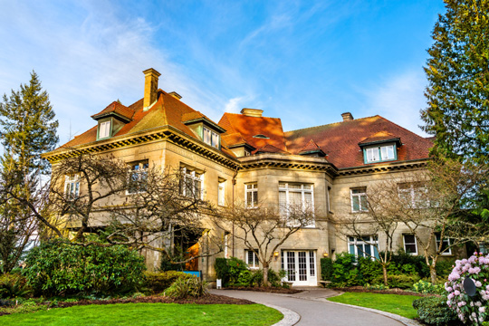 Pittock Mansion in the West Hills of Portland, Oregon